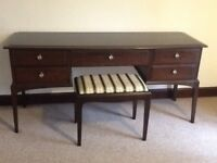 Stag Minstrel dressing table and matching stool