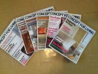 Concept for Living Magazine May 2002 - June 2004 (approx. 25)