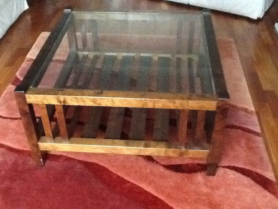 Laura Ashley glass top coffee table