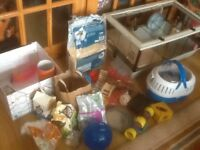 Hamster cage plus all accessories /equipment /foods/toys in photos to clear -£50