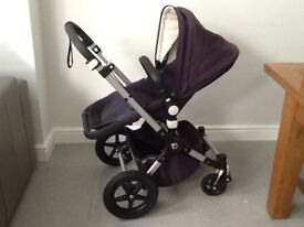 Bugaboo Chameleon 3 Travel system - limited edition Navy/Cream + Maxi Cosi Cabrio Isofix Car seat