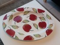 LARGE 'APPLE' OVAL PLATTER BY EDEN POTTERY