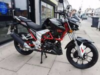 low millage motorcycle 125cc Lexmoto Venom 17 plate like new great price amazing for commuting
