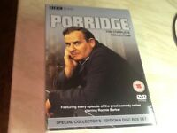 Dvds porridge comedy collection series 1,2,3 + 2 Christmas specials still in original packaging £10