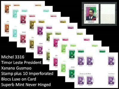 USA UN Summit - East Timor Leste Pres Xanana Gusmao - Stamp Imperf Blocs MNH