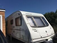 8 yr old immaculate STERLING EUROPA caravan - 4 berth - with electric mover + 2 FREE awnings