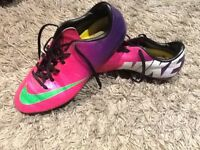 Nike mercurial football boots in size 5.5 galactic purple