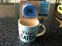 Fishing Stuff New Mug and Tape Measure - Father's Day Gift