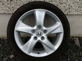 17INCH 5/114 GENUINE HONDA ALLOY WHEELS WITH TYRES FIT MOST MODELS