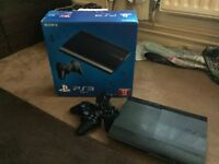PS3 12GB - BOX - TWO CONTROLLERS + CABLES + TVVV!!!!