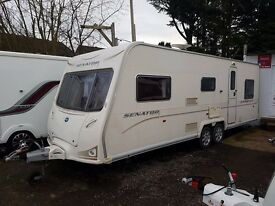 Bailey Senator Carolina 6 berth caravan FIXED TRIPLE BUNK BEDS, VGC, AWNING !!