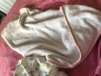 Grobag swaddle and fluffy towel