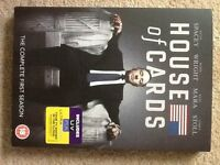 House Of Cards Season 1 DVDs - like new