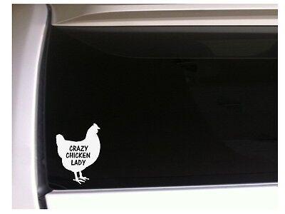 "Crazy Chicken Lady farmer sticker vinyl car decal 6"" *L43 farm chicken pet Eggs for sale  Shipping to Nigeria"
