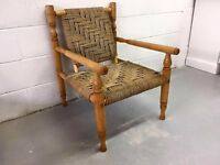 ***Large Wicker and Pine Arm Chair***£40***FREE DELIVERY***