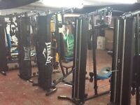 Multi gyms last few with weights pic with no weights as to heavy to move but weights included