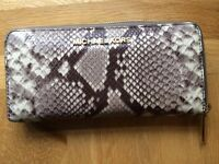 Michael Kors Grey/Gold Snakeskin Wallet