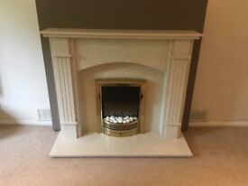 Worcester Marble Fireplace and Electric Fire