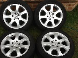 Four 16' X 8' Mercedes Benz alloy wheels in good condition. Prestons Liverpool Area Preview