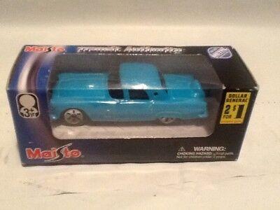 Maisto Baby Blue 1956 Ford Thunderbird T-Bird 1:64 Diecast MINT