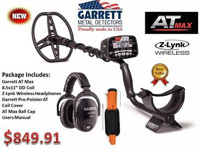 GARRETT AT MAX METAL DETECTOR & PIN-POINTER- OUR BEST SELLER - FREE SHIPPING