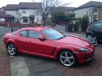 LOW MILEAGE (37,000) 56 PLATE, MAZDA RX8, 1.3 ROTTARY(2.6L), 231BHP, EXCELLENT CONDITION - £2000