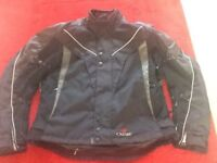 Halvarssons men's textile motorcycle jacket.
