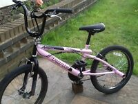 Pink angel bmx stunt bike