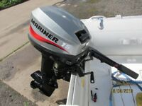 2006 Mariner 15hp outboard motor boat engine for inflatable rib dinghy tender dory fishing