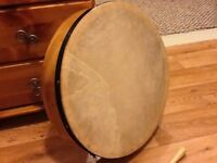 "New 16"" Bodhran with bag."