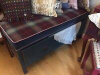 SALE!! Beautiful Storage Bench with new Stunning Cushion