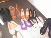 Collection of shoes and boots in sizes 3 & 4