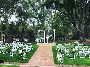 Romantic white ceremony package for hire Perth Region Preview