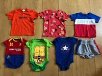 21 BOYS 3-6 / 6-9/9-12 MONTHS HUGO BOSS,TED BAKER ,CONVERSE ,BARCELONA,TURTLES