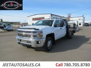 2015 Chevrolet 3500 SLT CREW CAB 9 FT Flat bed