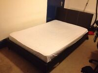 Small double bed and Memory Foam topped mattress for sale.