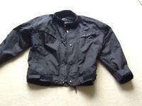 Motorcycle jacket and waterproof leggings