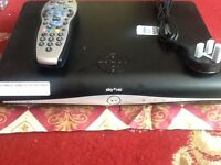 Sky plus hd box with remote and power cable