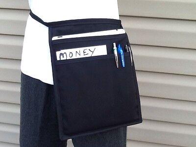 Black Top Pocket I Pad Hip Side Apron Waiter Waitress Money Pouch