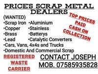 Wanted scrap iron. Cars . Vans . 4x4s. And scrap metal