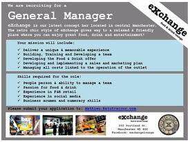 General Manager - eXchange food & drink lounge