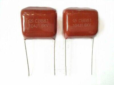 20 Pcs High-voltage Film Capacitors Cbb81 104j 1.6kv 0.1uf 1600v P20