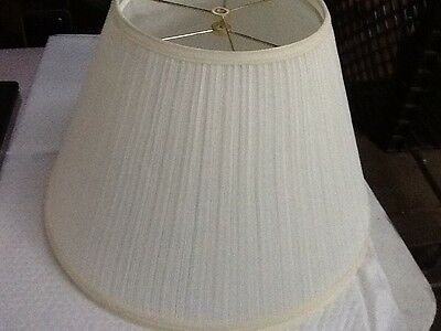 Lot Of 2 White Pleated Lamp Shades 12 1/4