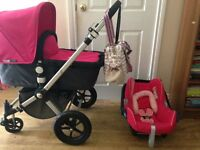 Bugaboo Cameleon Pram with carrycot and pushchair seat