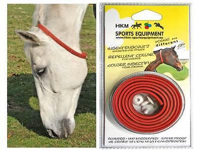 Insektenschutz für Pferde ABWEHR BAND Insekten Abwehr Halsband fliegen ring neu