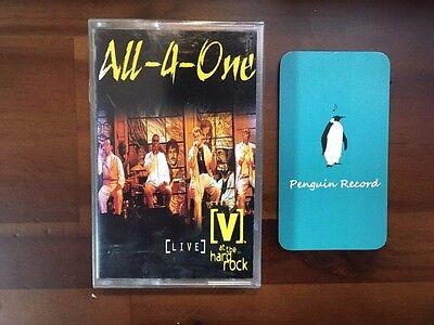 All-4-One - [V] At The Hard Rock Live CASSETTE TAPE KOREA EDITION SEALED