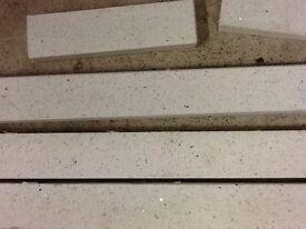White Quartz granite kitchen upstand - various lengths