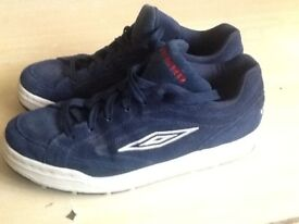 """Mens """"Ghetto"""" Navy Blue Umbro Trainers, Size 8, In Excellent Condition."""