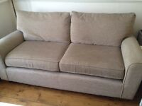 Next 3 Seater 'Montana' Sofa - in a cream / beige colour 'Eccles Mink'
