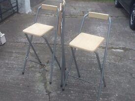 3 folding breakfast chairs